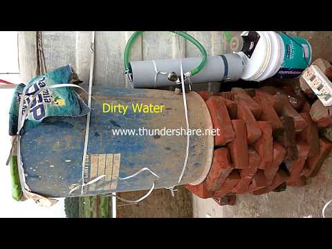 Iron removal from water | Iron water to clean water by simple method | Dirty water to clean water