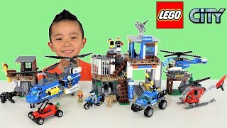 Lego City Mountain Police Headquarters and Mountain Arrest Toys Unboxing Fun With Ckn