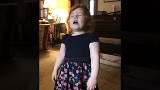 kid has the loudest sneeze you will ever hear...
