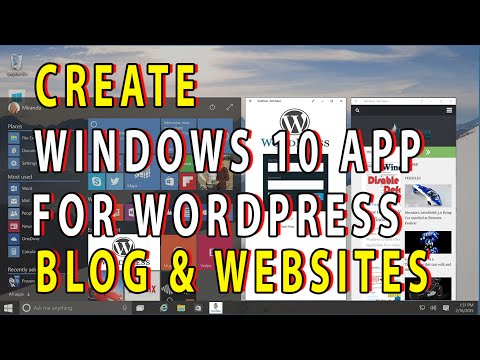 WordPress - How to Create Windows 10 Apps for Websites