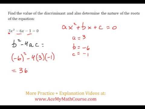 Discriminant (Quadratics) - Worked Example #2 (Basic Level)