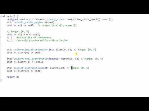 C++ 11 Library: Random Number Distribution