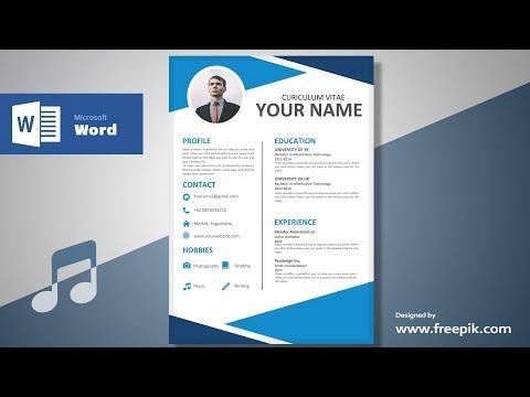 Awesome Clean Resume Designing in Microsoft Word (Musical Version)| CV Designing Tutorial