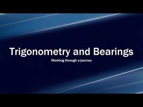 Using Bearings and Trigonometry