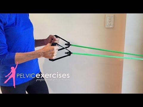 Resistance Tube Exercises - Upper Back Strengthening for Women
