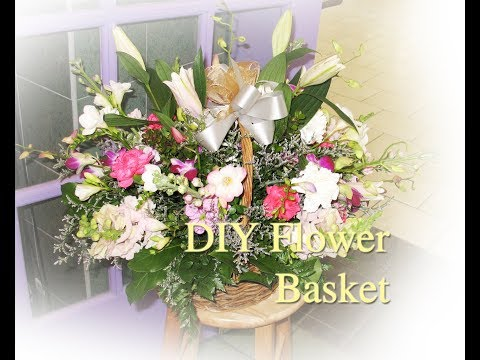 How to make your own flower basket