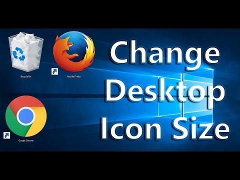 How  to Change Desktop icon size - Windows