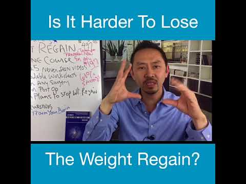 Why It Is Harder To Lose Weight Regain
