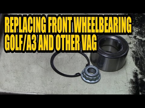 How to replace a front wheelbearing Golf mk4 and other VAG models