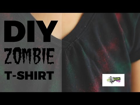 10 Minute DIY Airbrush Zombie T-Shirt