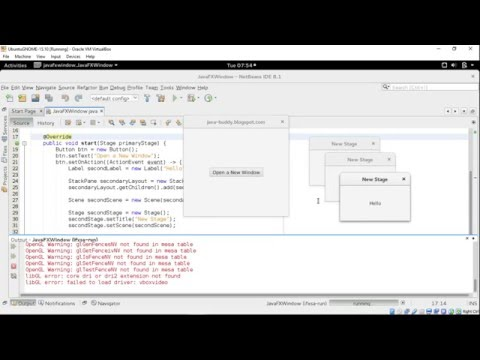 JavaFX example: open new Window and exit all when primary window close