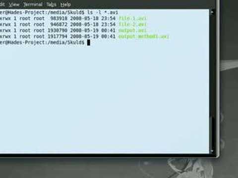 ubuntu - How to Join .AVI Files