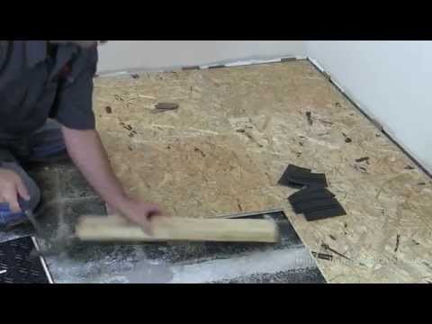How To Install Basment Subfloor Tile System