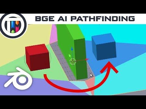 Blender Game Engine Tutorial - Easy Ai Pathfinding