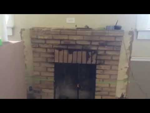 Soot Cleanup Brick Fireplace