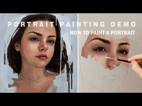 PORTRAIT PAINTING DEMO || Oil Painting Time-Lapse