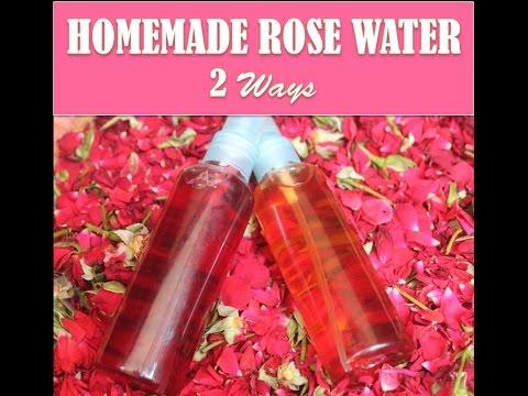Homemade Rose Water - 2 Ways (DIY Rose Water)