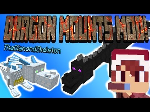 Minecraft: DRAGON MOUNTS MOD (Ice, Nether, Fire, Water, Ghost, Ether, Ender) - MyDiamondSkeleton!