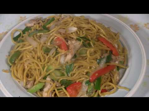 Cantonese Noodle Stir Fry (Fast Chinese Cooking)  Chicken Chow Mein Wok Stir Fry