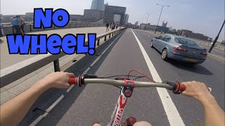 *RISKY* NO FRONT WHEEL THROUGH LONDON!!