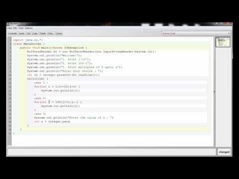 ICSE Java Programming #19. : Menu-Driven program in Java