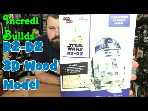building IncrediBuild R2-D2 collectable 3D wood model