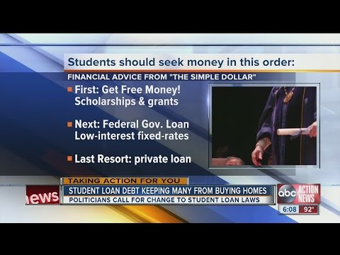 Student Loan Debt Keeping Many From Buying Homes