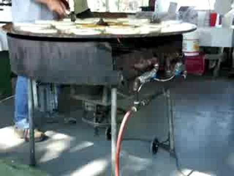 Rotating gas pancake griddle part 1