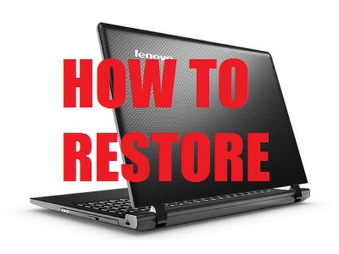 Lenovo Ideapad Factory Reset One key Recovery