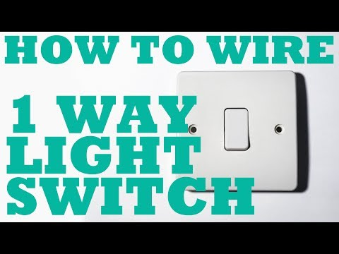 1 Way Light Switch, how to install and wire.
