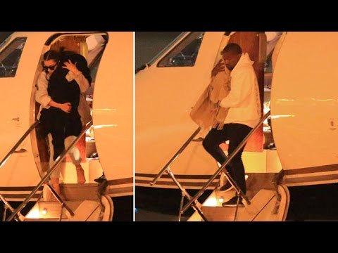 Kim And Kanye Carry Saint And Nori Off Private Jet