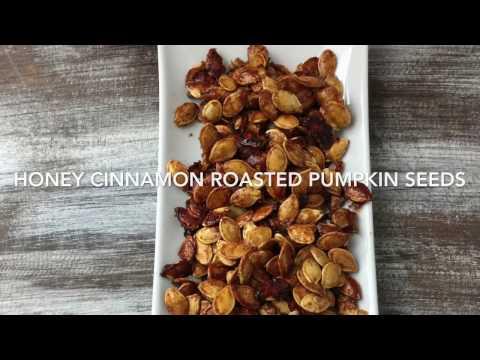 Honey Cinnamon Roasted Pumpkin Seeds