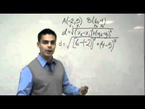Algebra- Finding the Distance Formula