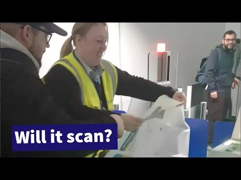 Man Tries to Get Through Airport Security with A0 Sized Boarding Pass