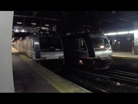 Trains At New York Penn Station