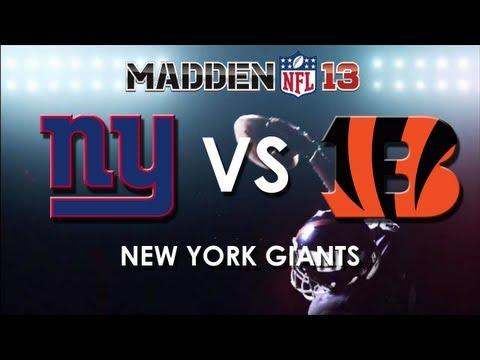Madden 13: New York Giants vs. Cincinnati Bengals
