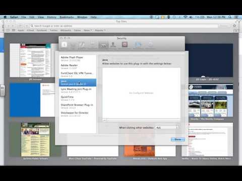 Activating Flash in Safari