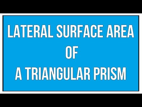 Lateral Surface Area Of A Triangular Prism / Maths Mensuration