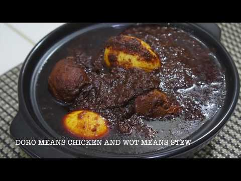 Doro Wot Ethiopian - National Dish of Ethiopia - Chicken Stew