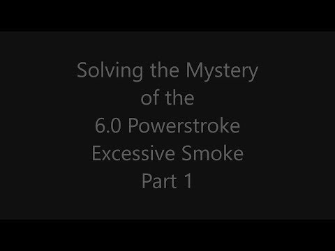 Verne's Misadventures: 6.0 Powerstroke Excessive Smoke Part 1