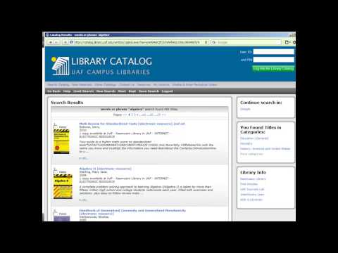 Limiting library catalog searches to electronic books