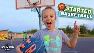 🏀FIRST BASKETBALL PRACTICE! 🏀 Her First Ever Sport!