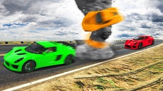 DODGE THE TORNADO OR DIE! (GTA 5 Funny Moments)
