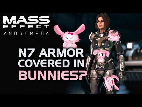 Mass Effect Andromeda - N7 Armor Covered in Bunnies? (Unique Dialogue When Wearing N7 Armor)