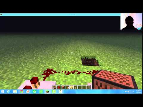 Minecraft How to make A Very Simple Fire Alarm!!!!!   HD
