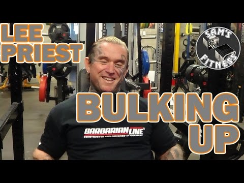 LEE PRIEST discusses BULKING UP in Bodybuilding