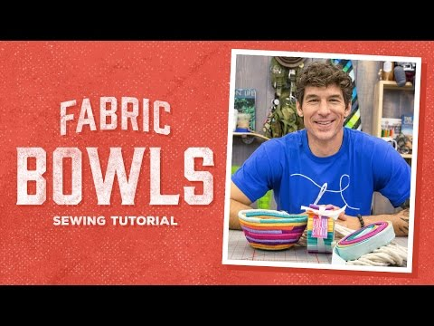 Make Your Own Fabric Bowls with Rob!