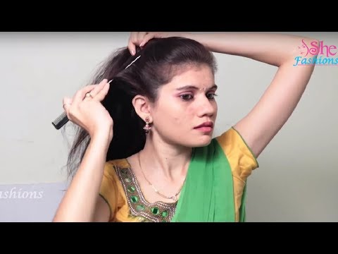 Latest Self Hairstyle for long hair    Everyday Hairstyle for collage,school