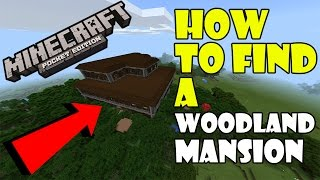 How To Find A WOODLAND MANSION !!! Woodland Mansion Seed   Minecraft PE 1.1 Update Review