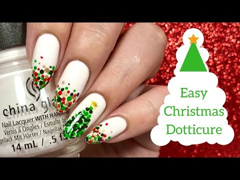 🌲 Easy Christmas Dotticure Nail Tutorial | Day 9 of my 12 days of Christmas! 🌲
